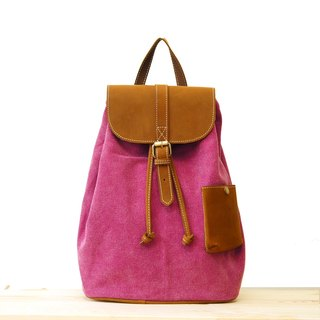 [Happa] cute little backpack pocket after a ride - stone-washed canvas classic (Raspberry raspberry pink) Camping Picnic most convenient