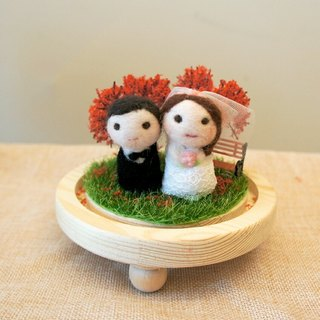 Wool felt micro-view bottle decoration wedding birthday Valentine's Day Christmas gifts can be customized