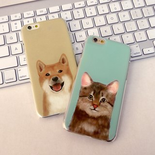 My Pets Cat Cyan 2 Print Soft / Hard Case for iPhone X,  iPhone 8,  iPhone 8 Plus, iPhone 7 case, iPhone 7 Plus case, iPhone 6/6S, iPhone 6/6S Plus, Samsung Galaxy Note 7 case, Note 5 case, S7 Edge case, S7 case
