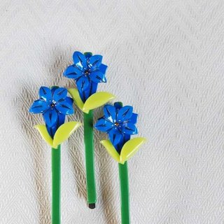 Alishan gentian flower, small side clip, bangs clip (one into)