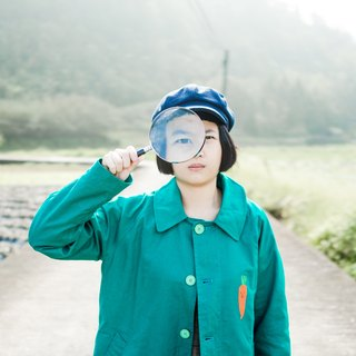 [Nasty Carrot Club] / Deerskin Coat / Leaf Green