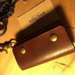 Golden Forest handmade leather original leather classic brown key case