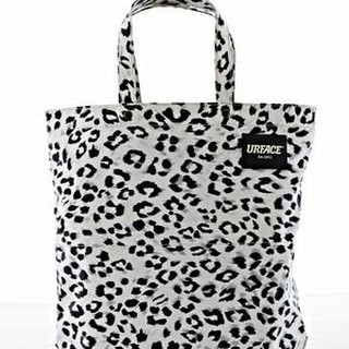 [URFACE] URFACE Original Series / Tualeknutcha white leopard Shopping Bag
