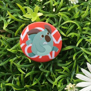 CHUMIO RUN Series: Illustration Badge Pin / Magnet (Kiran)