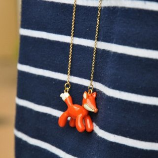 Glorikami Orange Balloon Fox Necklace