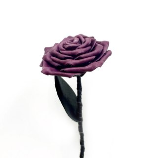 Leather Purple Rose