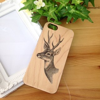 Deer Head Real Wood iPhone Case for iPhone 6/6S, iPhone 6/6S Plus