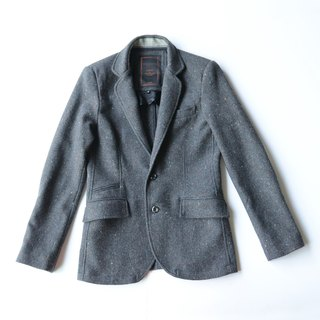 Machismo-wool snowflake suit jacket / gray