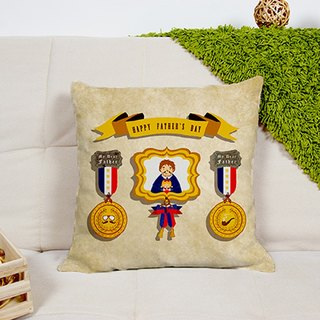 Dad badge pillow AH1-FADY3