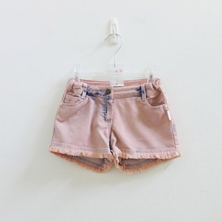 andywawa pink brush color personality flash diamond denim shorts