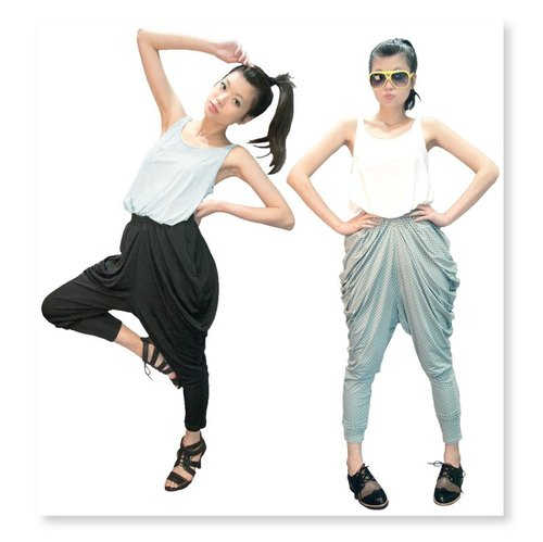 [Pants] circle design _ design drape Rome pants ● Melts and blooming!