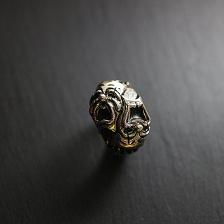 Comedy Tragedy Sterling Silver Face Smiley Ring