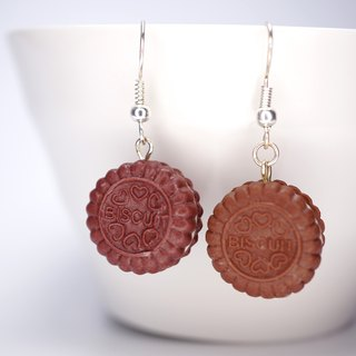 *Playful Design* Chocolate Sandwich Biscuit Drop Earrings