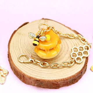 New version of sweet honey jam muffin bag ornaments / mobile dust plug charms