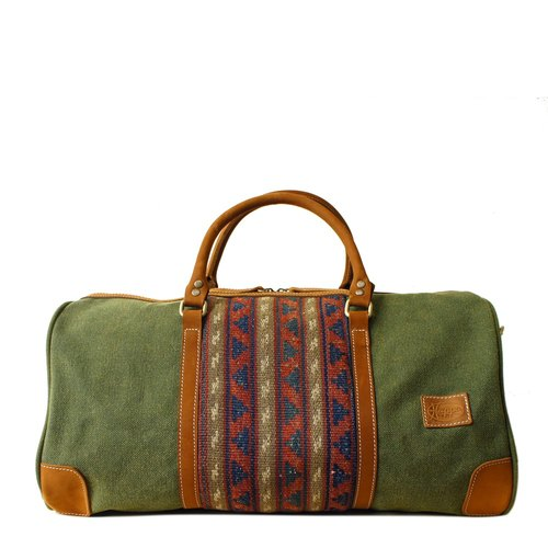 [Happa] simple fashion bag - suede short put - hand-knotted kilim paragraph (Olive olive green) autumn travel season exchange gifts Required