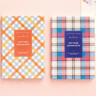 ARDIUM totem notebook - orange plaid (left)