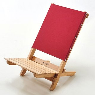 A.NATIVE outdoor camping picnic ground wooden folding chair / burgundy