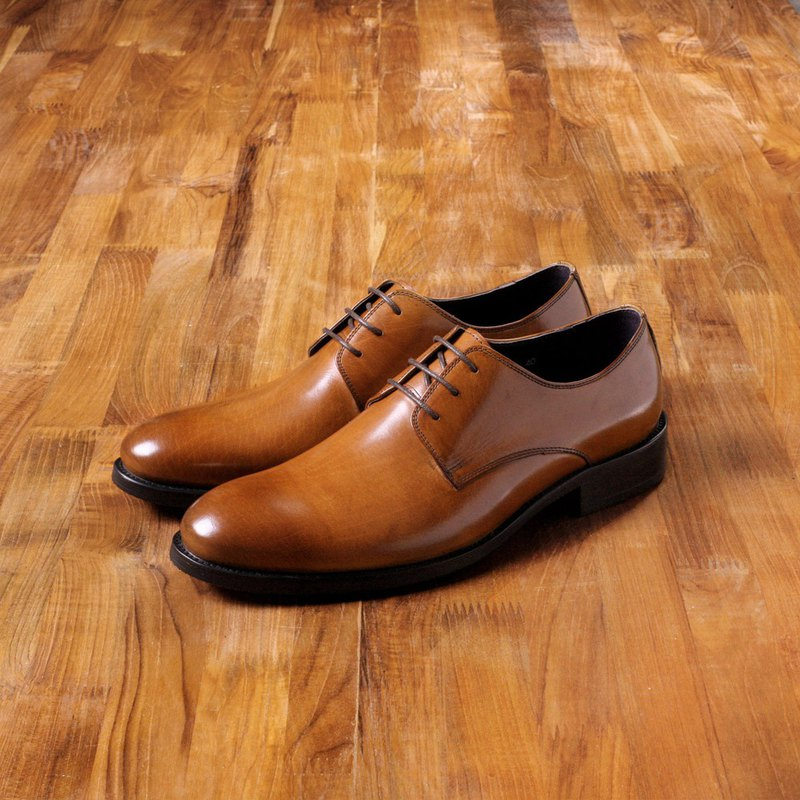 Vanger elegant beauty ‧ minimalist life wild Derby shoes Va138 retro brown