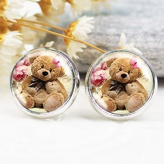 Cute Bears - ear clip earrings earrings ︱ ︱ ︱ little face modified fashion accessories birthday gift