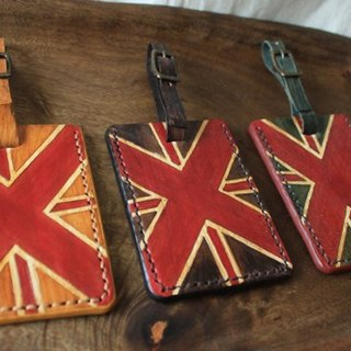Vintage British wind pure leather luggage tag - three colors - (limited edition) (holiday, birthday gifts)