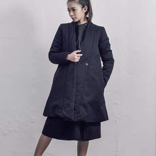 Long-sleeved cotton clip in the jacket / black