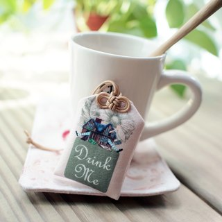Drink Me teabags Yu Shou ▌ ▌ Alice in Wonderland White Rabbit nest summer green sunflowers x