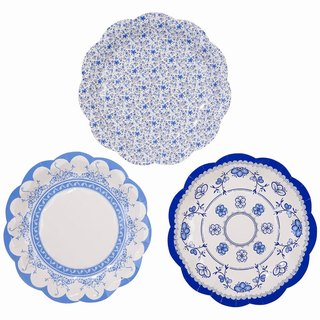 """Classical Celadon wind § paper plate"" British Talking Tables Party Supplies"