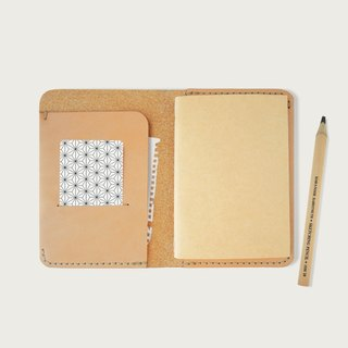 Passport Clip/Notepad/Notepad (with a Notebook) -- Original Leather