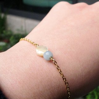Shell Tianhe Stone Bracelet (064) - Small Ball