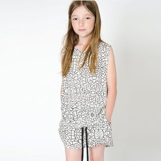 Nordic Organic Cotton Kids Skirt Black and White