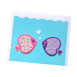 Handmade card _ lover fish... Valentine card