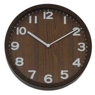 Natural - special jet wood clock (plastic)