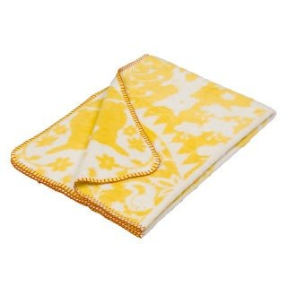 Fabulous Goose ultra-soft bristles blanket organic cotton Series - Fairy Tale Forest (yellow)