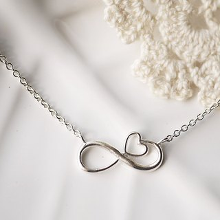 925 sterling silver [love infinite clavicle necklace] love, is unlimited (confession. girlfriends. Valentine's Day)