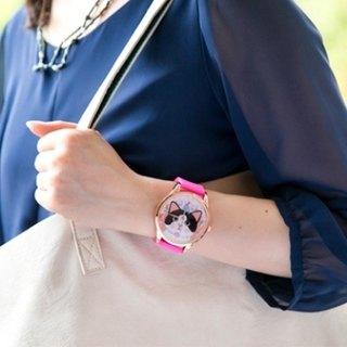 Jetoy, sweet cat good mood gold box watch (Pink + G) (Japanese) _Jewelry (JJWW012)