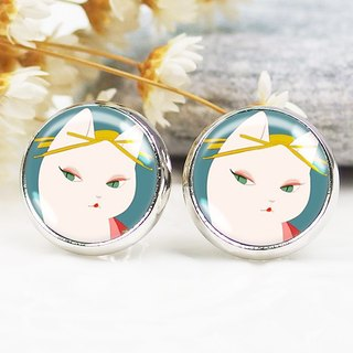 Japanese geisha - ear clip earrings earrings ︱ ︱ ︱ little face modified fashion accessories birthday gift