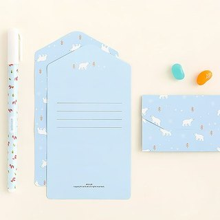 ARDIUM animal folding universal card - blue polar bear
