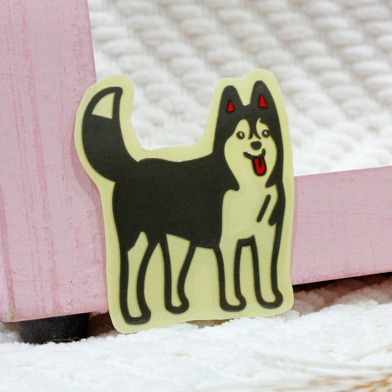 Reflective Sticker Waterproof and UV Resistant Shiqi Tongue Husky 5.2 * 5.8 cm