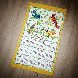1976 American early cloth calendar farm