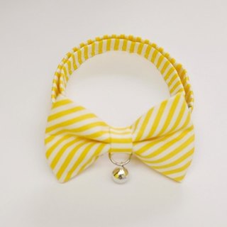 [Miya ko.] Handmade cloth grocery cats and dogs tie / tweeted / Bow / stripe / colorful cute / pet collars