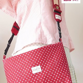 Hand-made practical rosy red Shuiyu side backpack straps +
