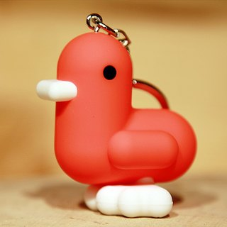 SUSS-Belgium CANAR cute exclusive heart-shaped duckling key ring - Super healing more birthday gift (hot orange)
