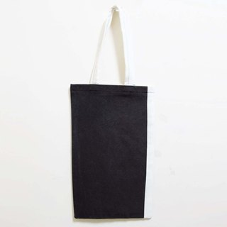 Wahr_ gray with canvas shoulder bag /shopping bag