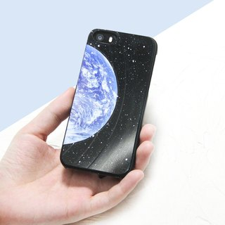 iPhone 8 / 7/ 6 / 5  Phone Case Earth Vinyl Record (Engraving Service)