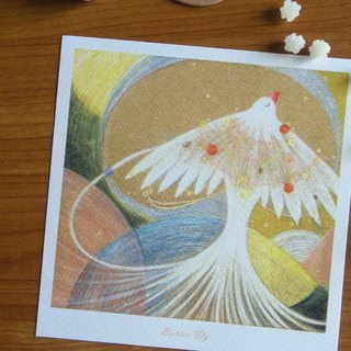 Butter Fly, Bai birds Christmas Square Postcards / Cards