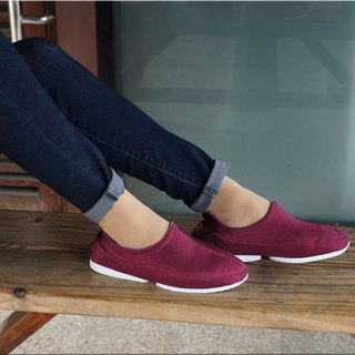 excellent covering vpep fashion lazy shoes / so-fit Series / burgundy with white / zero bound, it is worth your experience