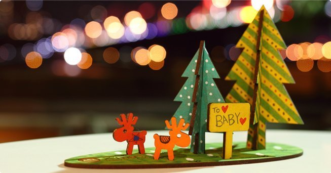 [Design] eyeDesign saw wooden Christmas gift deer family - Doubletree Deer