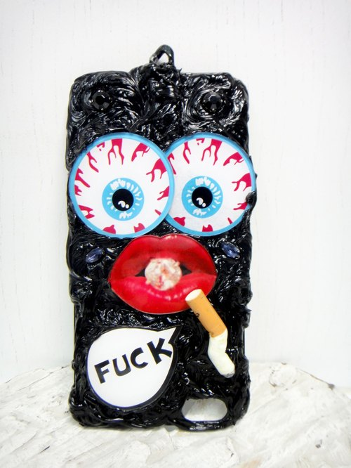 """Lanyards paragraph"" OBK Harajuku style big eyes mouth smoke iPhone 6 / 6s Phone Case"
