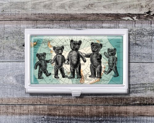 Arctic violence bears - business card holder ︱ essential office workers ︱ ︱ gift supplies office promotion gifts