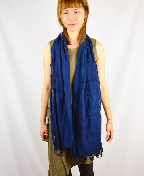 Aizen cotton scarves _ blue _ fair trade
